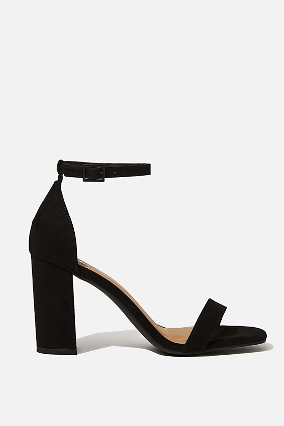 San Square Toe Heel, BLACK MICRO
