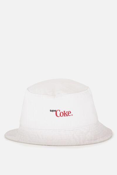 Bella Bucket Hat, WHITE COKE PRINT
