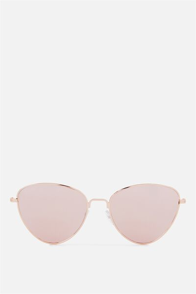 Luna Metal Sunglasses, ROSE GOLD