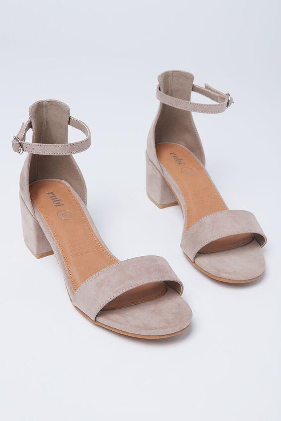 Ivy Low Block Heel, TAUPE
