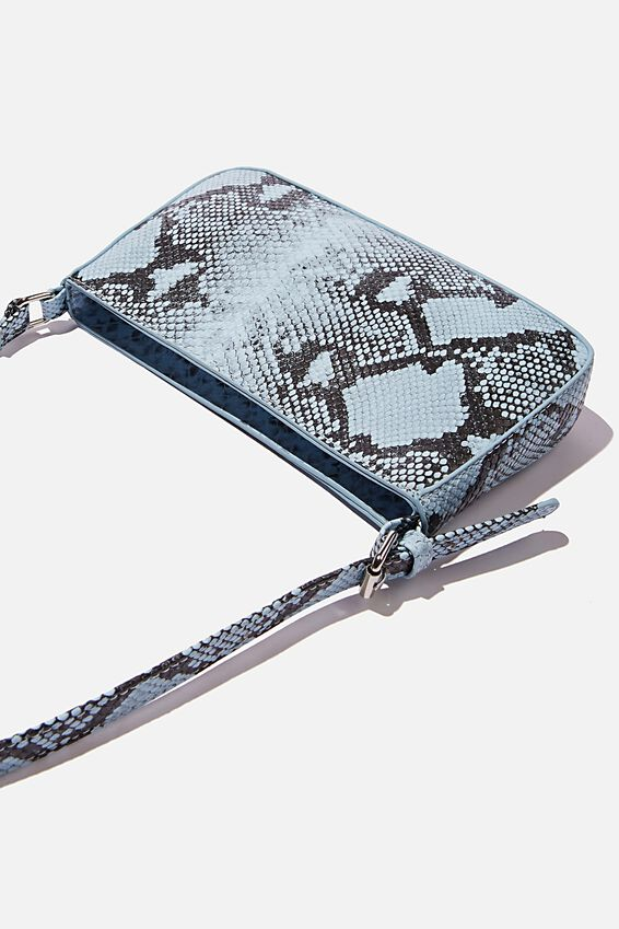 Lexi Underarm Bag, BLUE MULTI TEXTURE