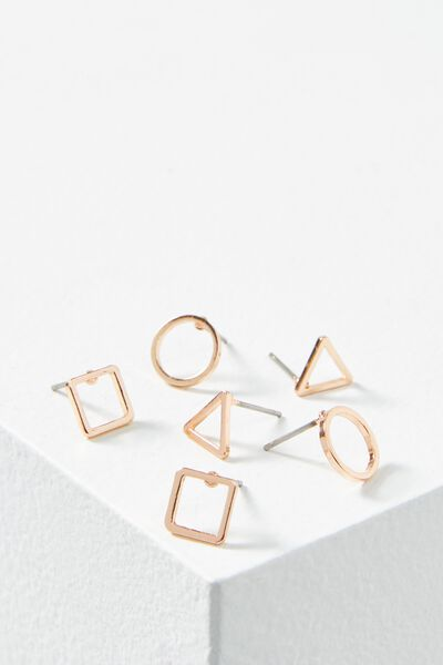 Miah Stud Pack, ROSE GOLD
