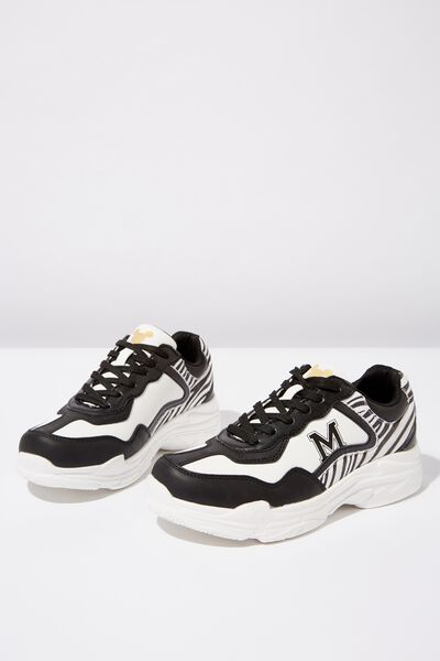 Mickey Erika Sneaker, LCN DIS WHITE/BLACK MICKEY