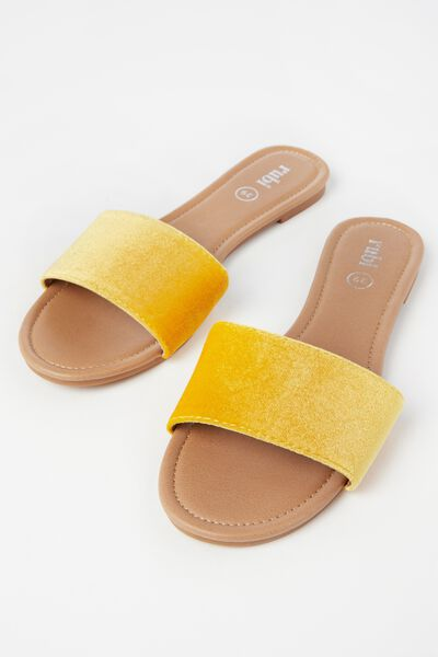 Everyday Slide, SUNSHINE YELLOW VELVET