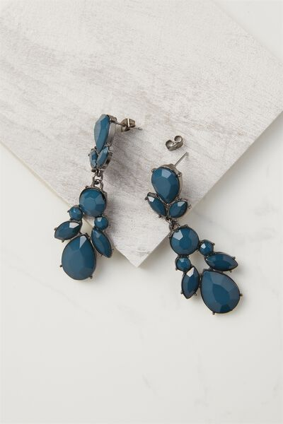 Drop Jewel Claw Earring, JUNE BUG