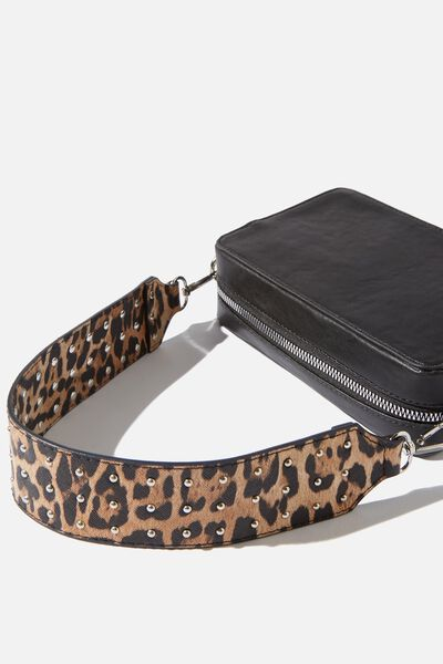 Rock It Short Bag Strap, LEOPARD