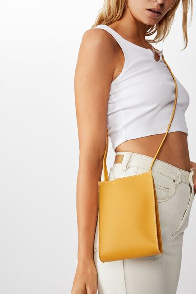 Connie Vertical Bag, MUSTARD