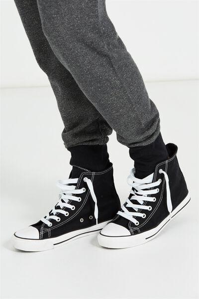 Jemma Hitop Sneaker 1, BLACK/WHITE