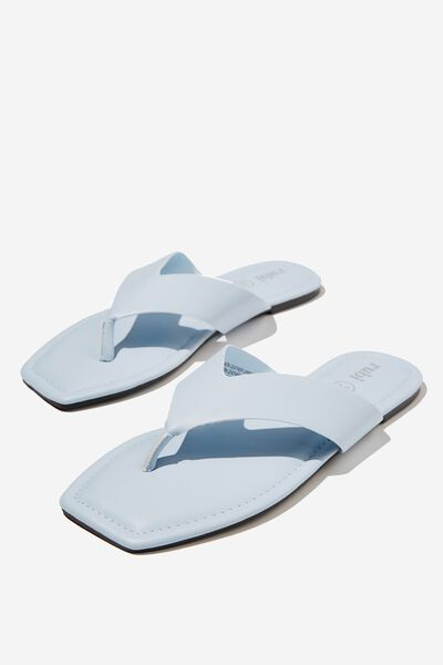 Everyday Molly Toe Post Sandal, BLUE SMOOTH PU