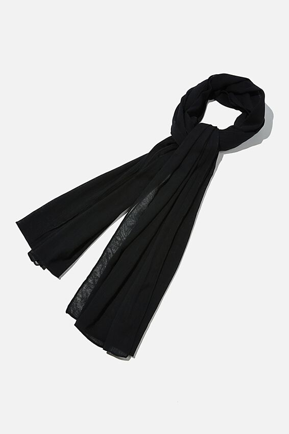 Leah Light Weight Scarf, BLACK