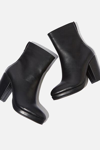 Danique Platform Boot, BLACK SMOOTH