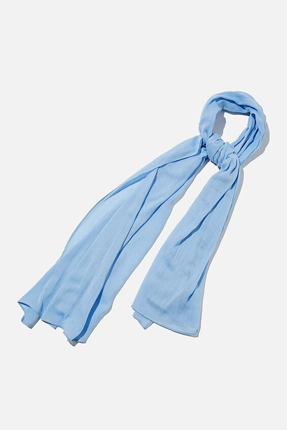 Leah Light Weight Scarf, AUTHENTIC BLUE