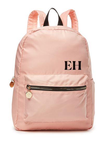 Personalised Traveller Backpack, FLAMINGO PINK-BLACK