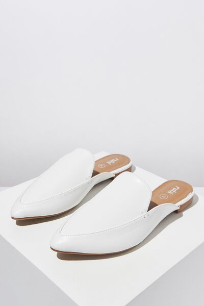 Petra Point Mule, WHITE PU
