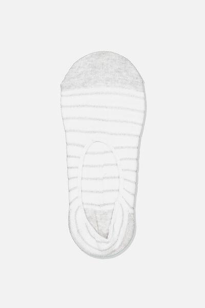 Sneaker Low Cut Sock, SILVER HAYLEY STRIPE
