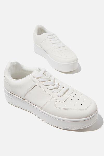 Alexa Platform Sneaker, WHITE