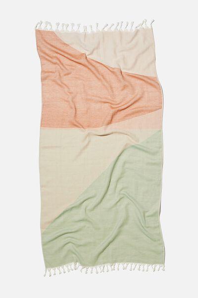 Coogee Lightweight Towel, LUSH GREEN HIDDEN COVE COLOUR BLOCK