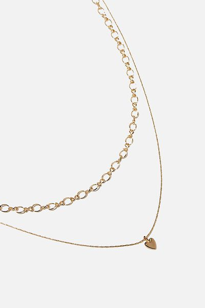 Unchained Heart Trinkets Necklace, GOLD