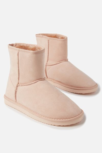 Short Home Boot, FROSTED PEACH