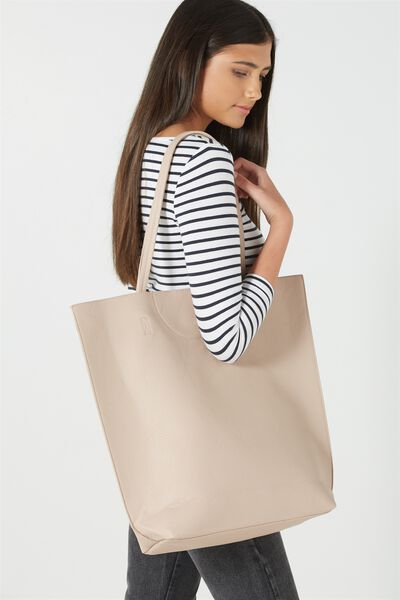 Textured Essential Tote, CLAY