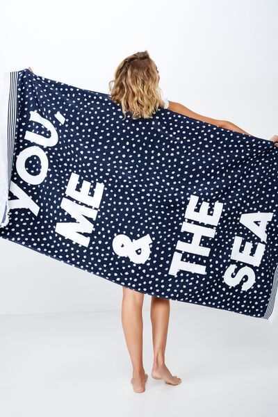 Love A Classic Towel, NAVY YOU ME AND THE SEA SPOT