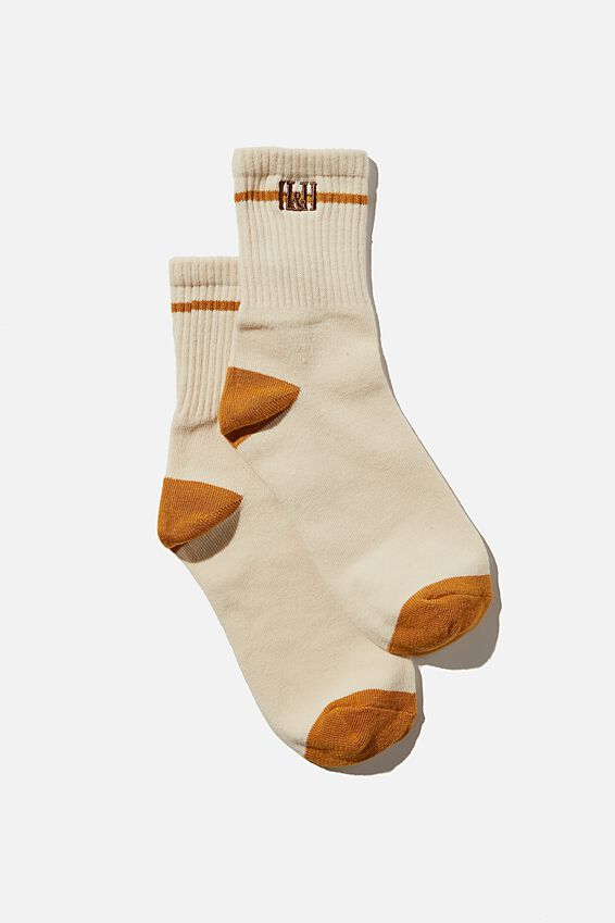 Fine Rib Sports Sock, BARLEY HAPPY + HEALTHY