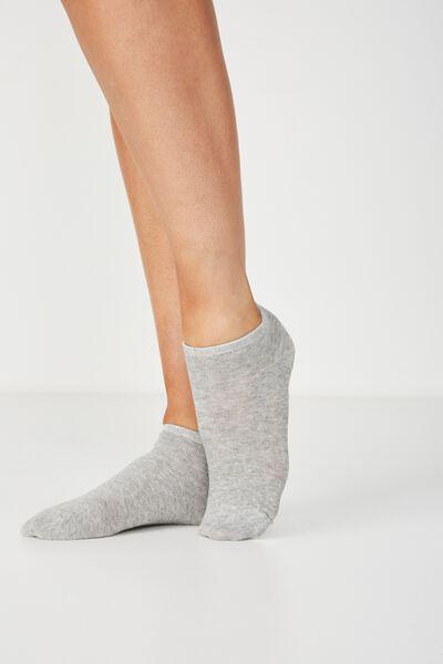 Bd 3Pk Ankle Sock, GREY MIX