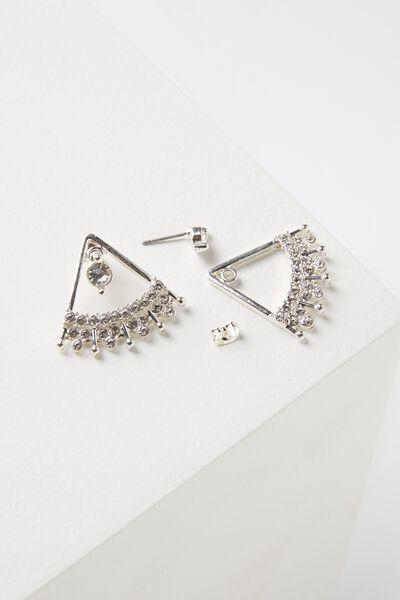 Cleopatra Diamante Earring, SILVER