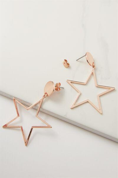 Quinn Star Earring, ROSE GOLD