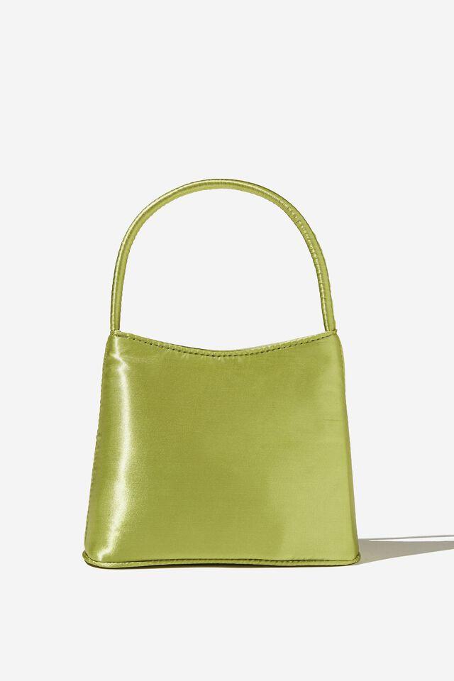 Elke Cross Body Bag, SOFT GREEN SATIN