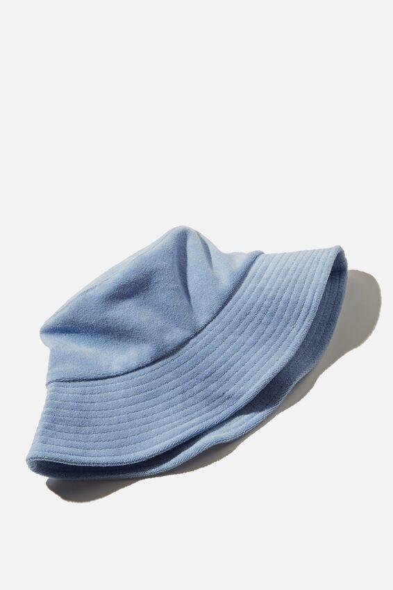 Bianca Bucket Hat, POOLSIDE BLUE TERRY