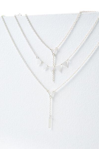 Siena Necklace, SILVER
