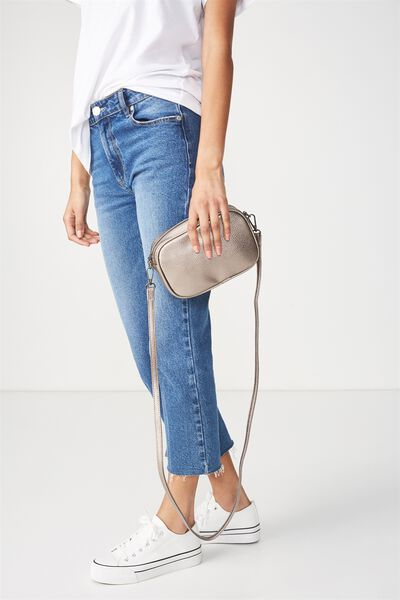Cameron Cross Body Bag, PEWTER METALLIC
