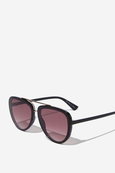Pip Aviator Sunglasses, BLK/GOLD