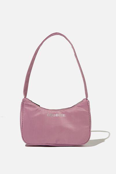 Personalised Nadia Underarm Bag, SOFT MAUVE