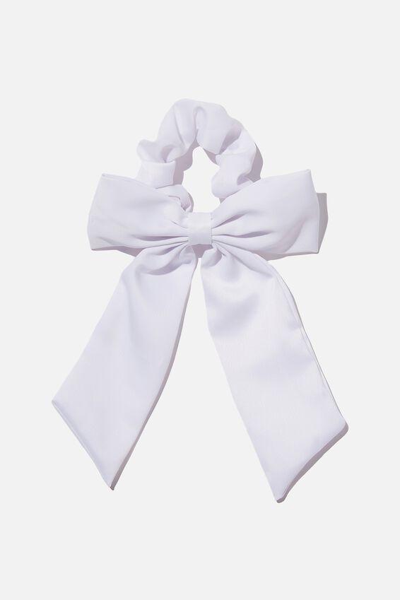 Super Satin Bow, WHITE