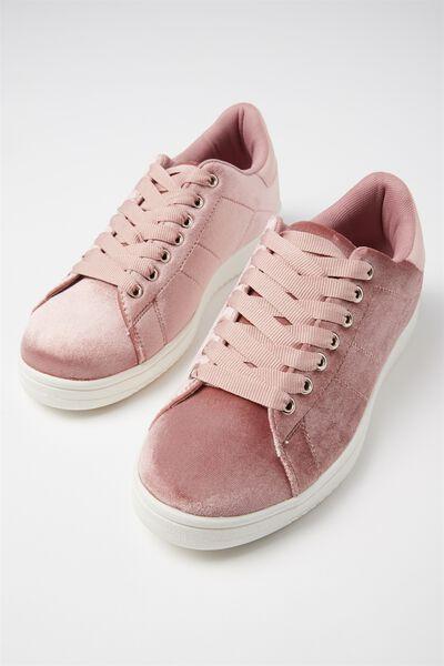 Cathryn Sneaker, DUSTY ROSE VELVET