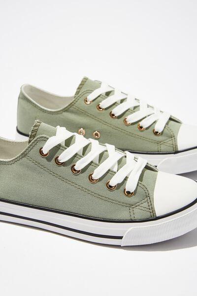 Jodi Low Rise Sneaker 1, SAGE GREEN TWILL