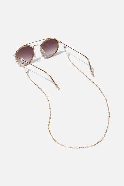 Gigi Glasses Chain, GOLD SATELITE CHAIN