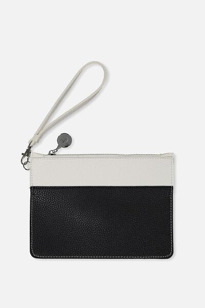 Margot Clutch, WHITE/BLACK