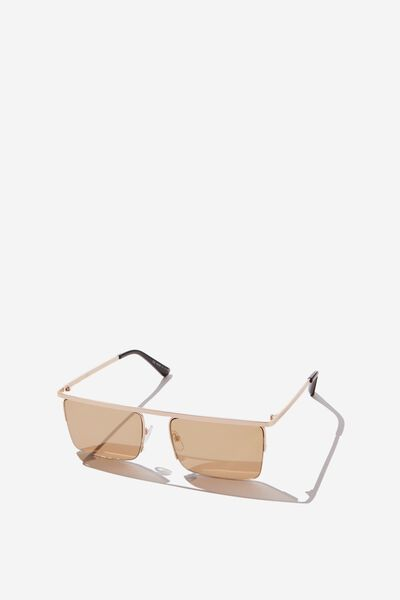 Amy Square Sunglass, MATTE GOLD