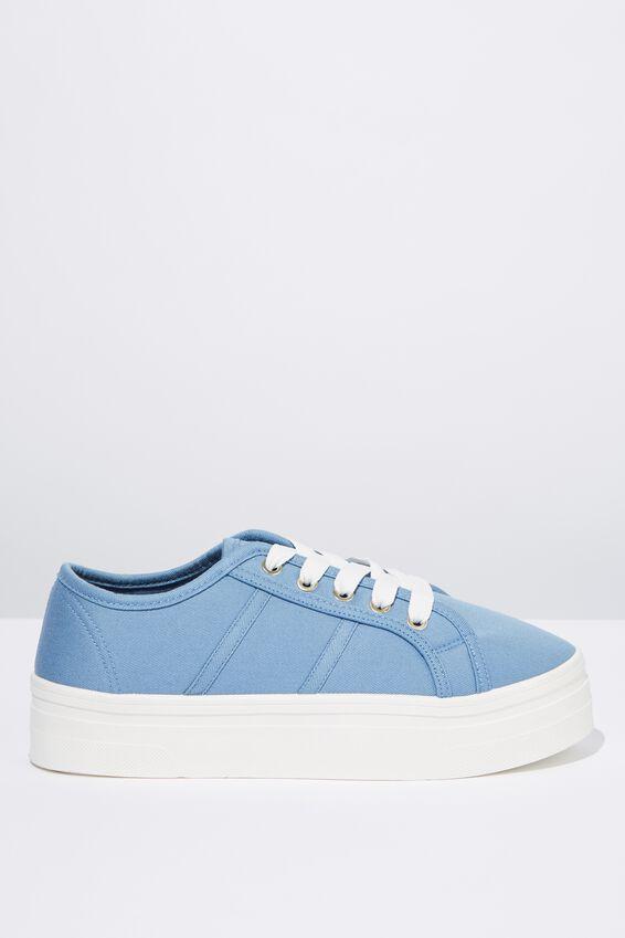 Willow Platform Sneaker, CHAMBRAY BLUE
