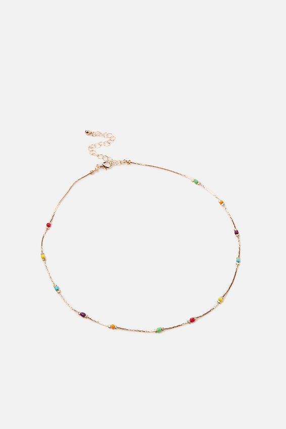 Mystic Beaded Necklace, BRIGHT