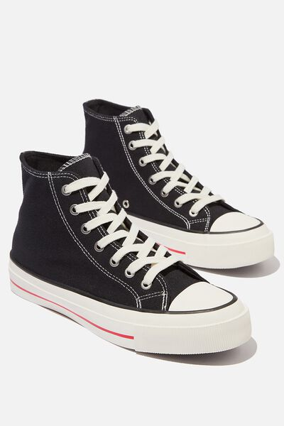 Britt Retro High Top, BLACK