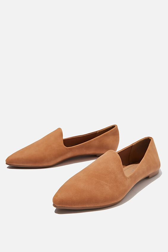 Essential Tiana Slipper, TAN NUBUCK