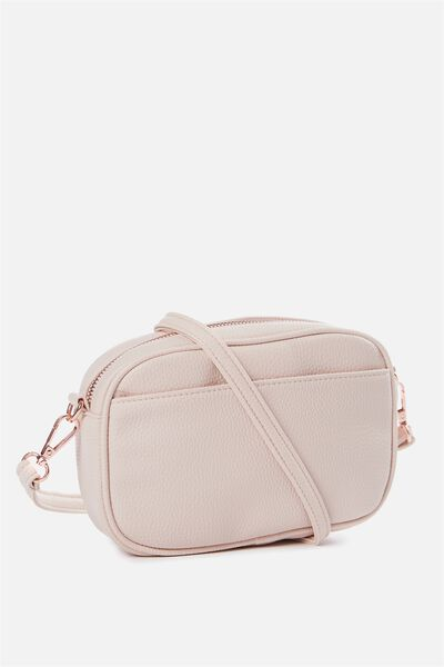 Cameron Cross Body Bag, BLUSH PEBBLE