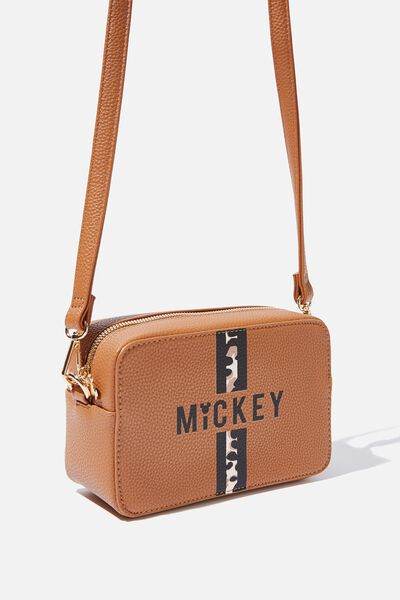 Stevie Boxy Cross Body Bag, LCN MICKEY ANIMAL/TAN