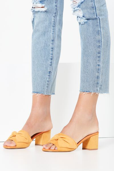 Bow Mule Heel, APRICOT