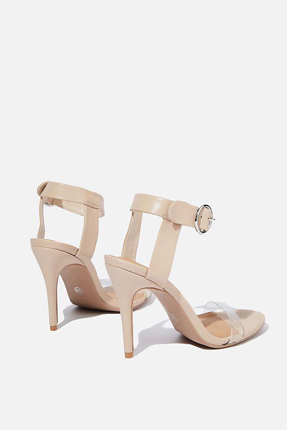 Skylar Stiletto Heel, NUDE PERSPEX