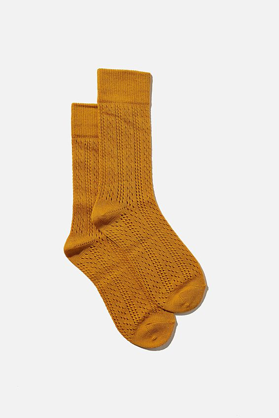 Heritage Knit Sock, RETRO YELLOW